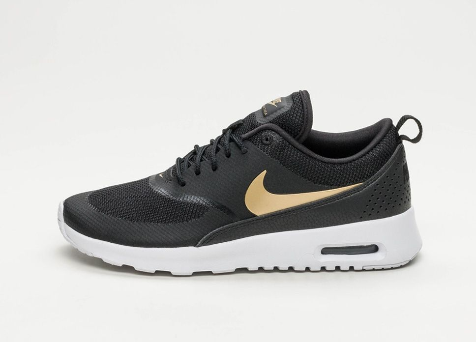 check out ee244 dfcf7 Nike Wmns Air Max Thea J (Black  Metallic Gold – White) lpu sneaker  sneakers