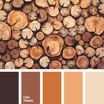 Wooden Palette Beige Brown Shades Matching Orange Red