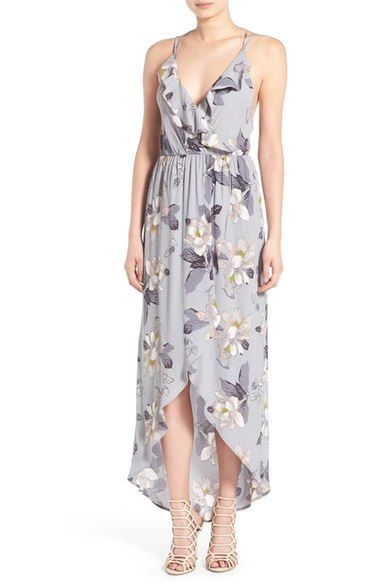 ASTR Ruffle Surplice High/Low Maxi Dress available at #Nordstrom ...