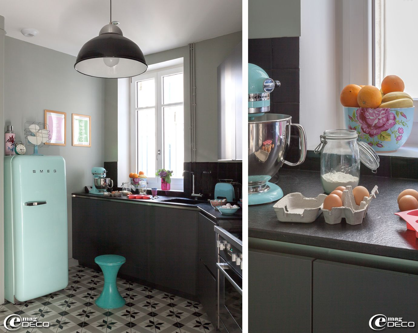 1000 images about cuisine et frigo smeg on pinterest pastel industrial and small kitchens - Frigo Bleu
