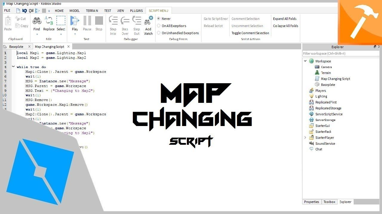 How To Script Roblox Games Roblox Tutorial Making Simple Map Changer Script Tutorial Roblox Script