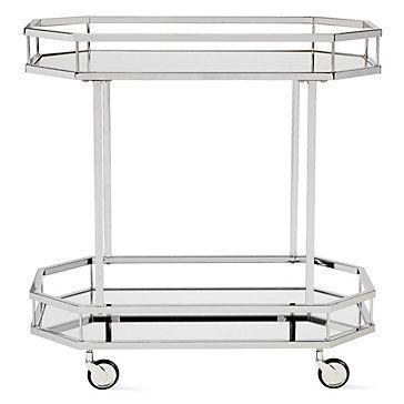 Metropolitan Bar Cart Mirrored Furniture Bar Cart Decor