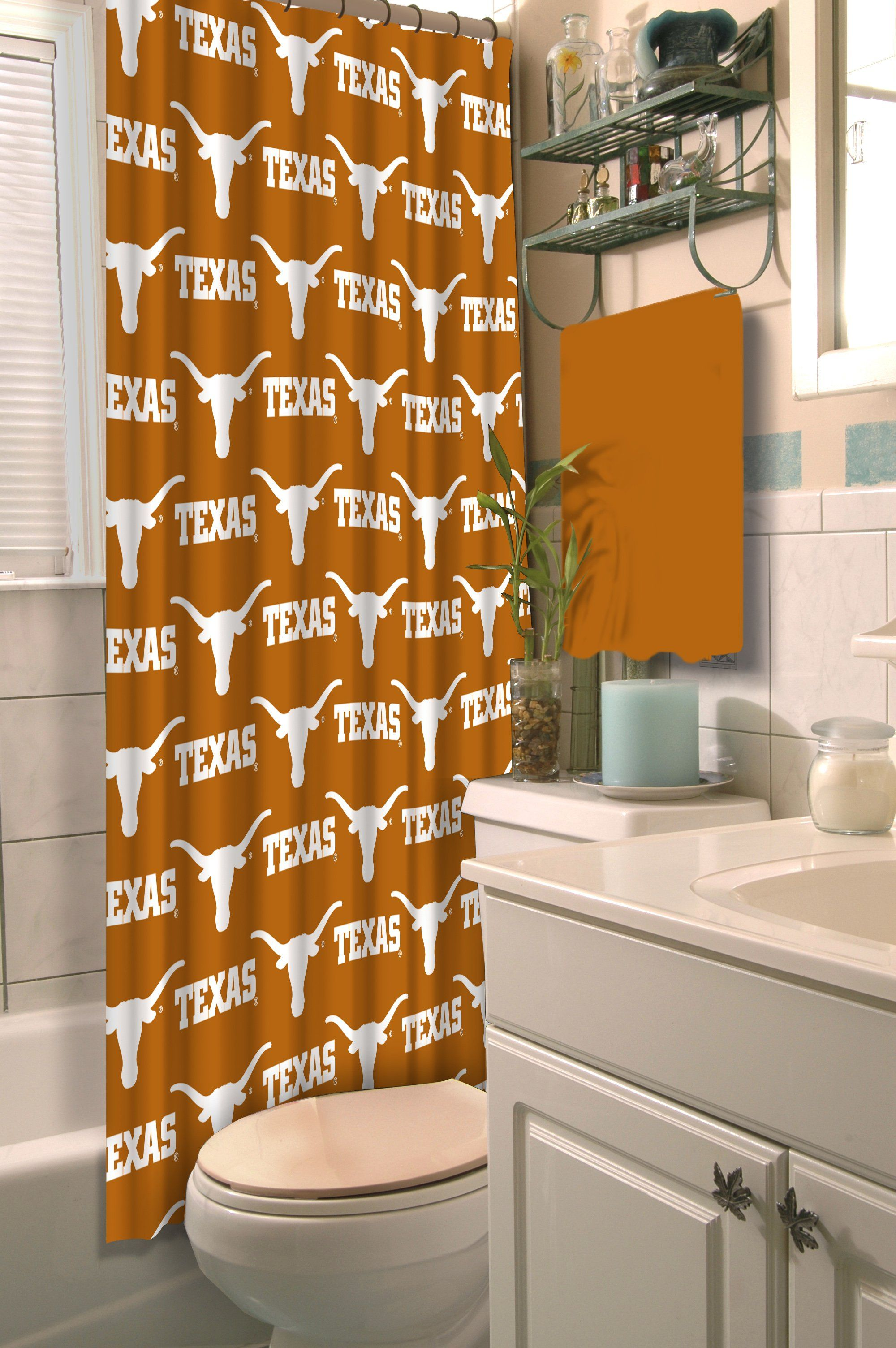 Texas Official Collegiate 72 X 72 Shower Curtain By The