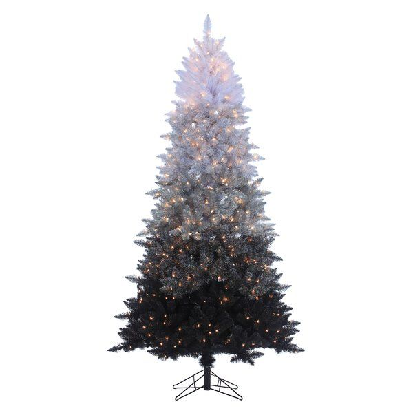 e6d94ae5dcb2 You'll love the Black/White Spruce Trees Artificial Christmas Tree with  Clear/White Lights at Wayfair - Great Deals on all Décor & Pillows products  with ...