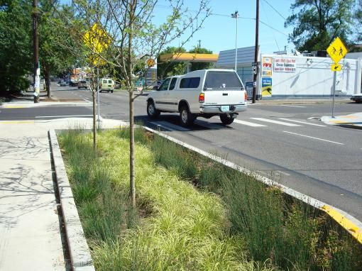 result ramp over bioswale
