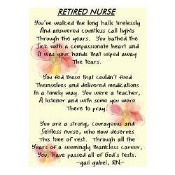 Nurse Retirement Poems And Quotes   nurse stuff ...