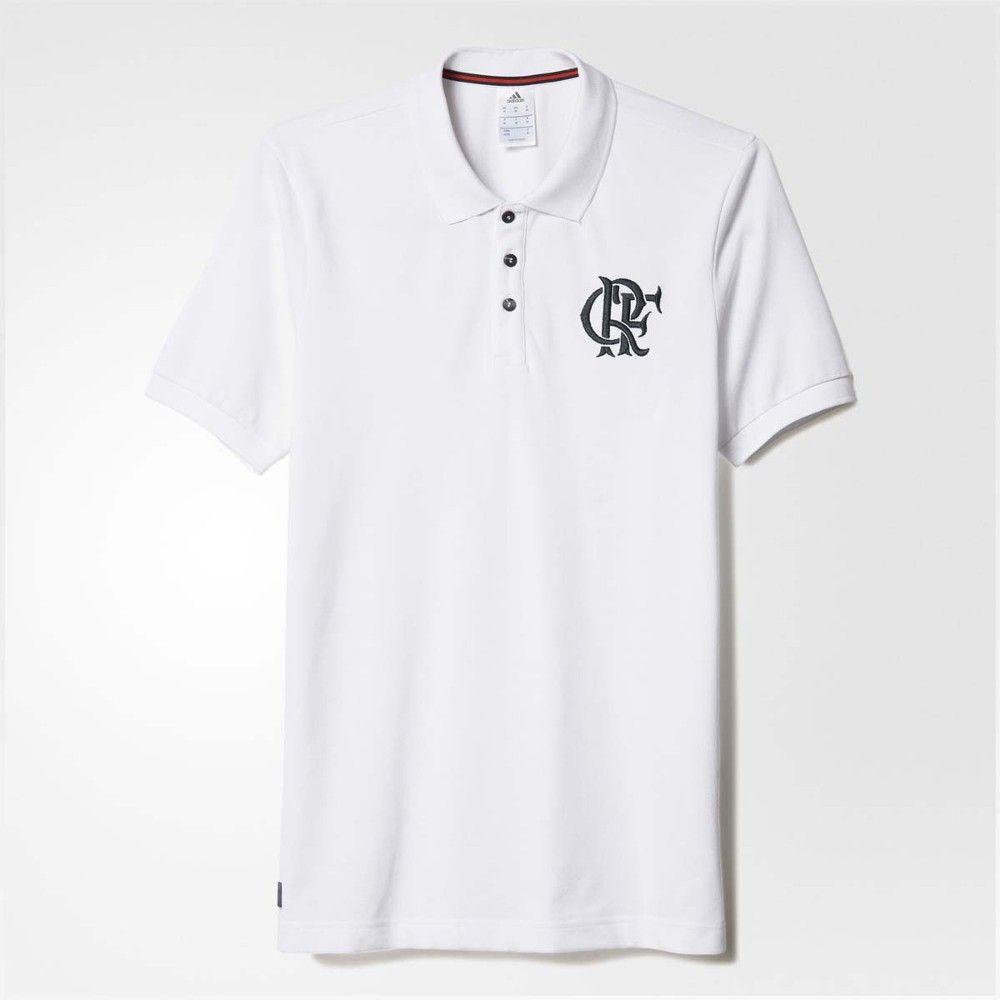 Camisa Polo Flamengo Branca Adidas 2016 - EspacoRubroNegro ... 1b73518be3d