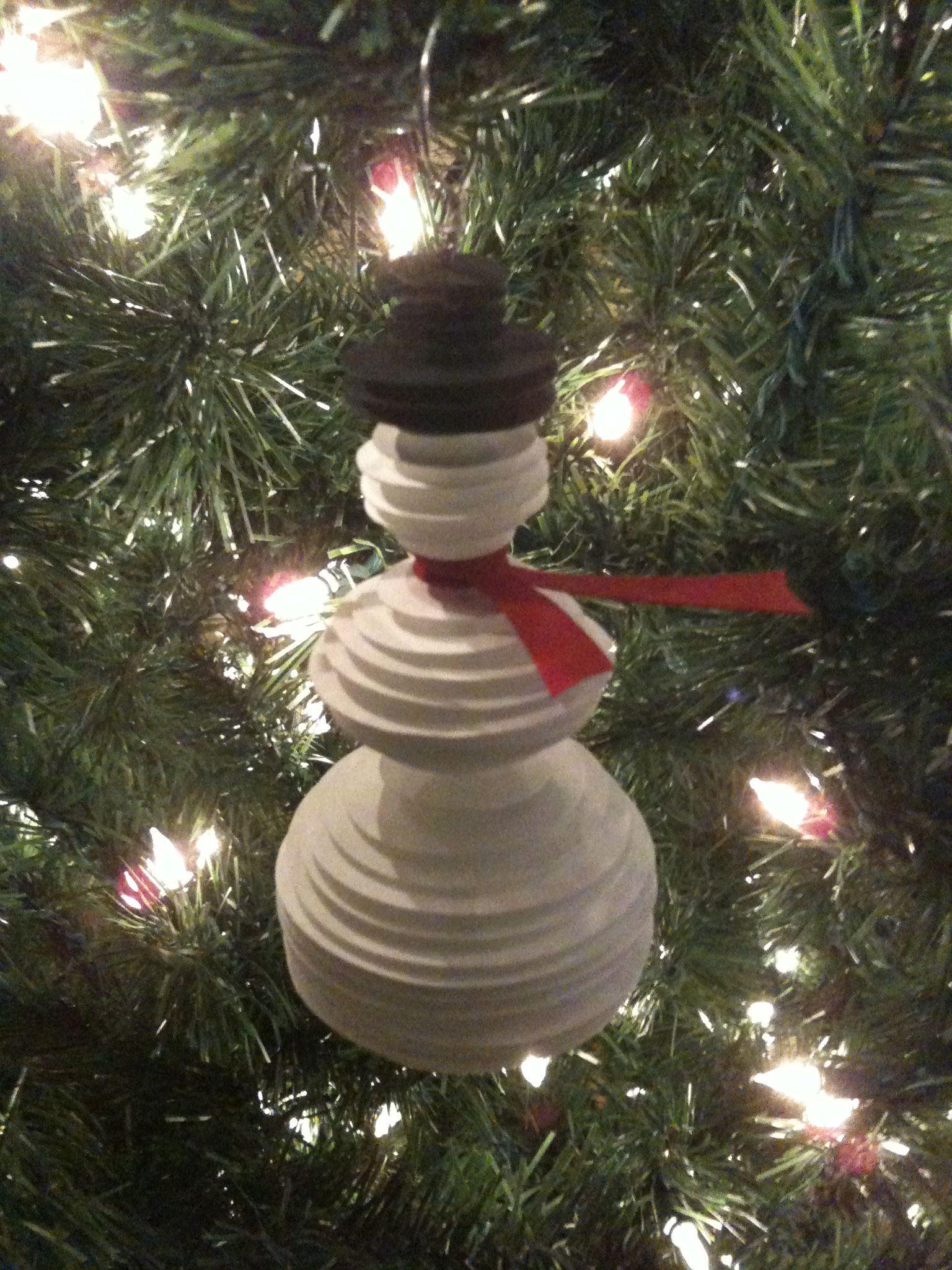 Card Stock Snowman (2009) | Christmas ornaments, Holiday ...