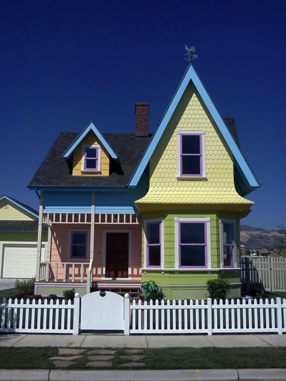 Recreating A Real Life Up Movie House In Utah Hooked On Houses Up Movie House House Built House
