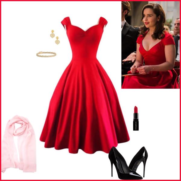 Emilia Clark Zanim Sie Pojawiles At Duckduckgo Red Dress Fancy Dresses Dance Dresses