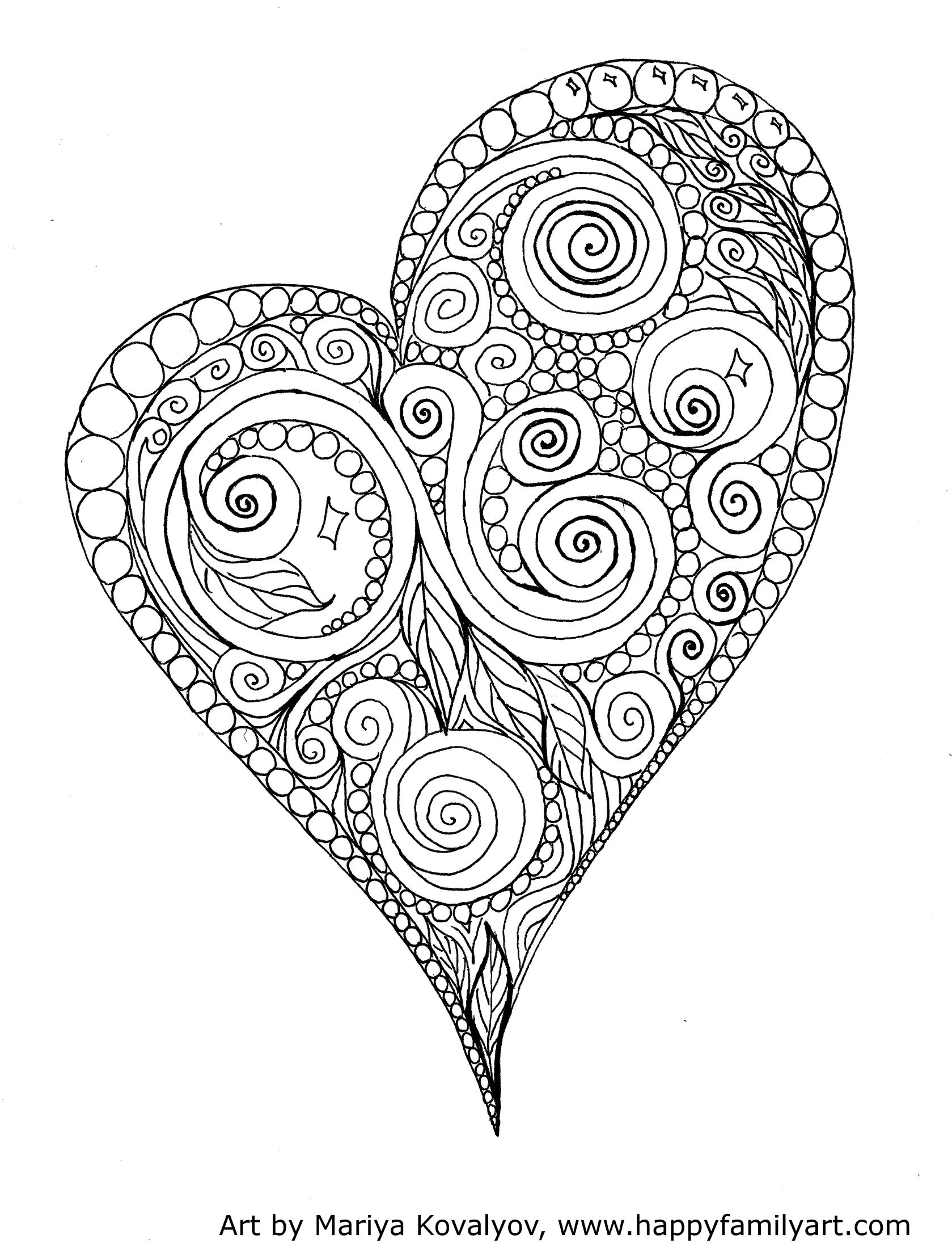 Valentines Day Holiday Coloring