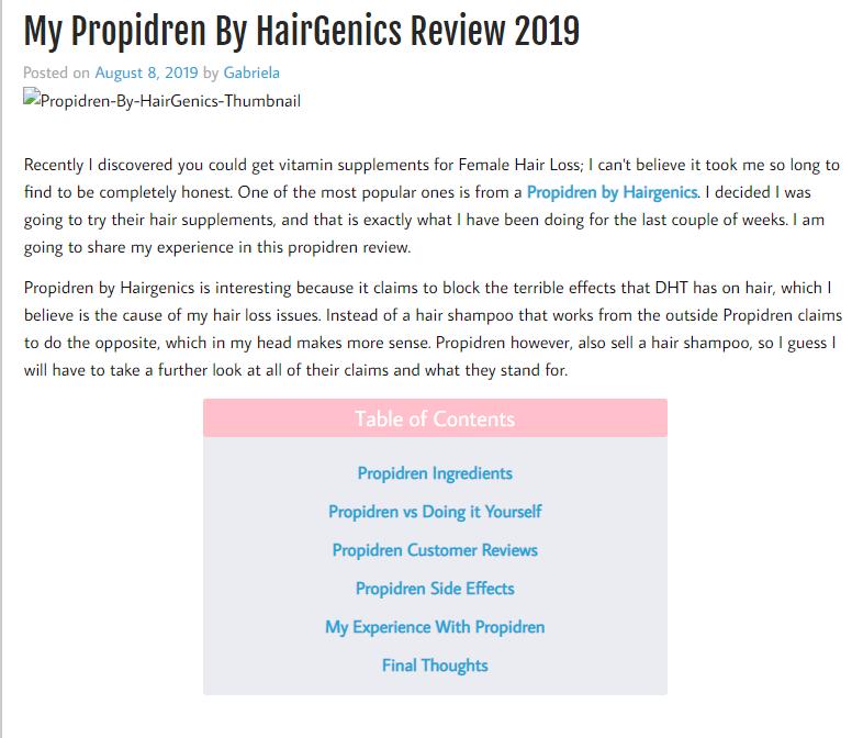 My Propidren By HairGenics Review 2019 My Honest Hair
