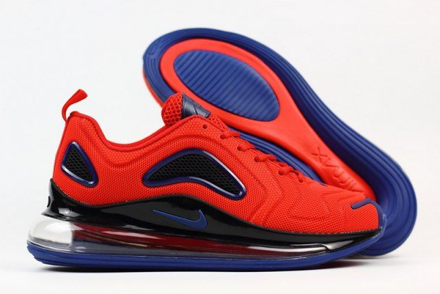 new products 54a11 a43bd Nike Air Max 720 KPU Men s Running Shoes Red Black