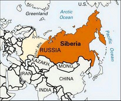 Map of Siberia (in Asia), Russia. Part 3 of 3 CC2W11 | CC2 W11