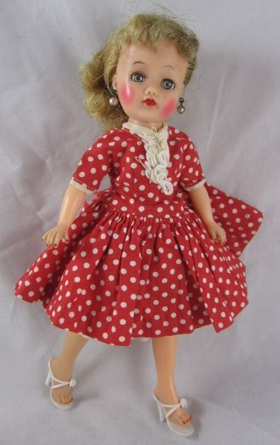 1958 ideal 1012 little miss revlon doll high color dress