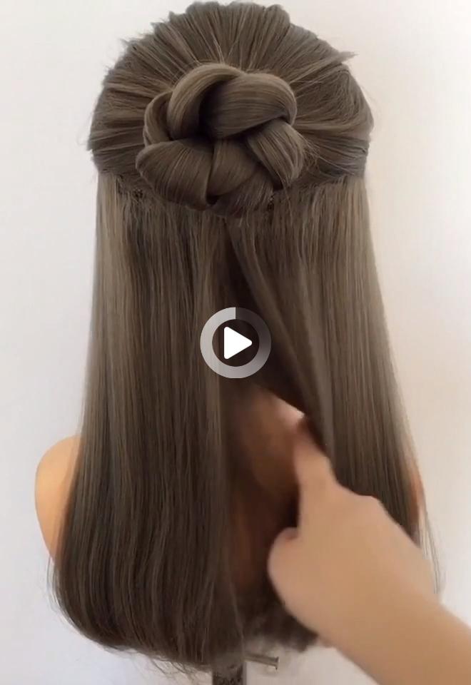 Very Very Simple Hairstyle One Minute Can Learn Personal Shawl Hair Style Women In 2020 Flechtfrisuren Geflochtene Frisuren Frisuren