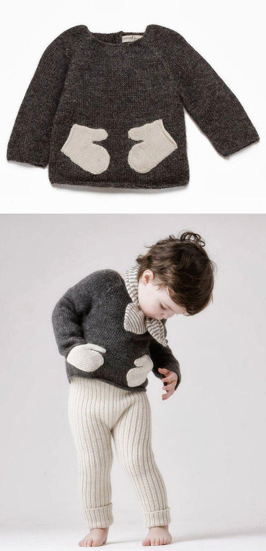 DIY: guantes de jersey reciclado | Punto | Pinterest | Ropa bebe ...