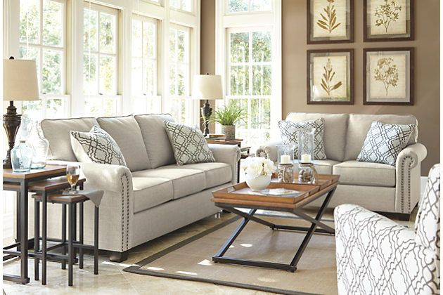 Vintage Casual Living Room Set With Sofa And Loveseat Ashley