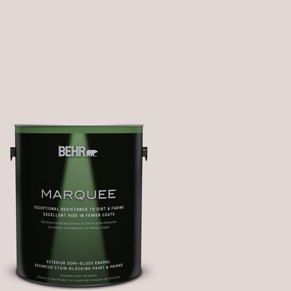 BEHR MARQUEE 1-gal. #N210-1 Taupe Tease Semi-Gloss Enamel Exterior Paint