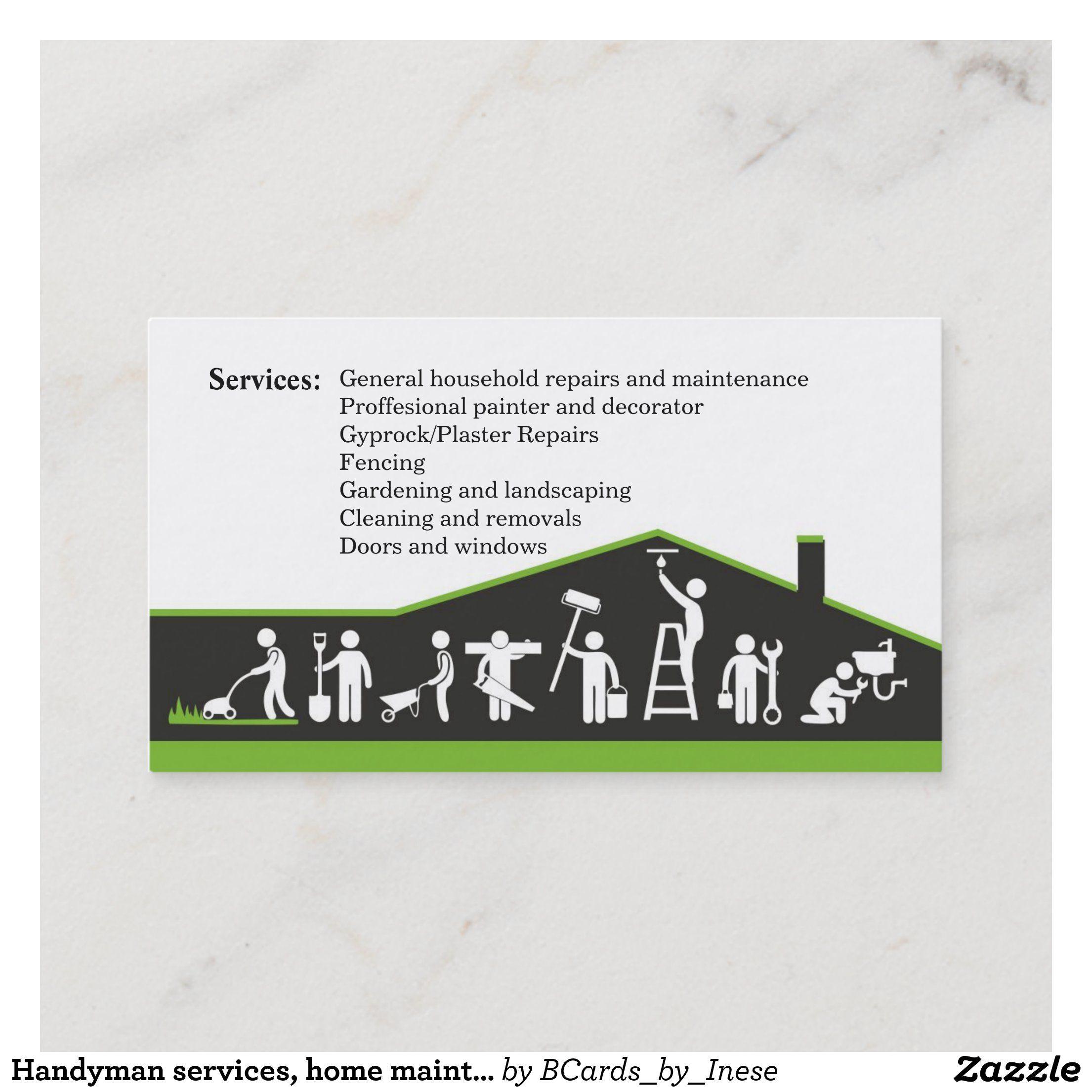 Handyman Services Home Maintenance Business Card Zazzle Com Handyman Services Remodeling Business Home Maintenance