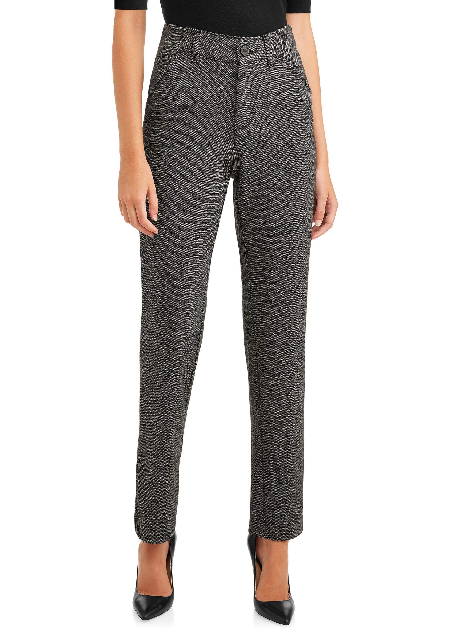 Time And Tru Time And Tru Knit Trouser Women S Walmart Com Trousers Women Womens Dress Pants Pants For Women [ 2667 x 2000 Pixel ]
