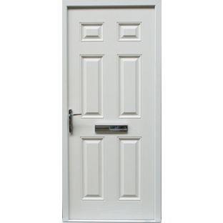 Regency Composite Front Door Set - 3625in - White - Right Hand from ...