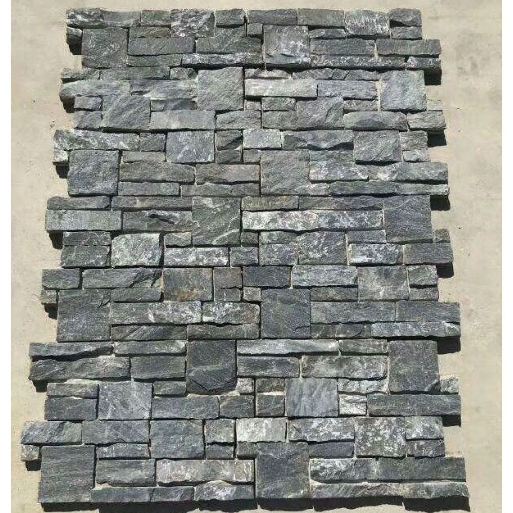 Exterior Wall Cladding Tile Black Slate Natural Stone Veneer Panel