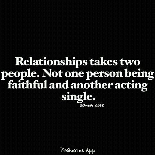 Relationships take two