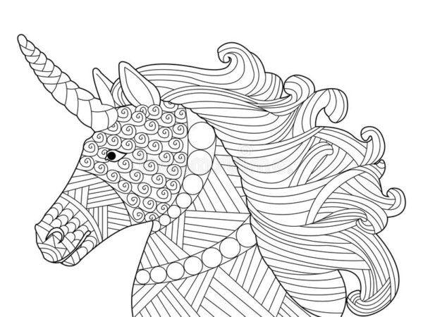 Unicornios: Mandalas y Zentangles con Pegasus para colorear ...