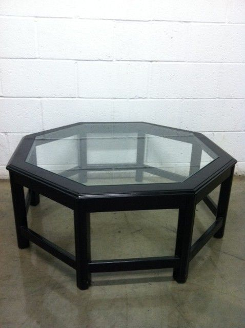 Black Octagon Coffee Table $250