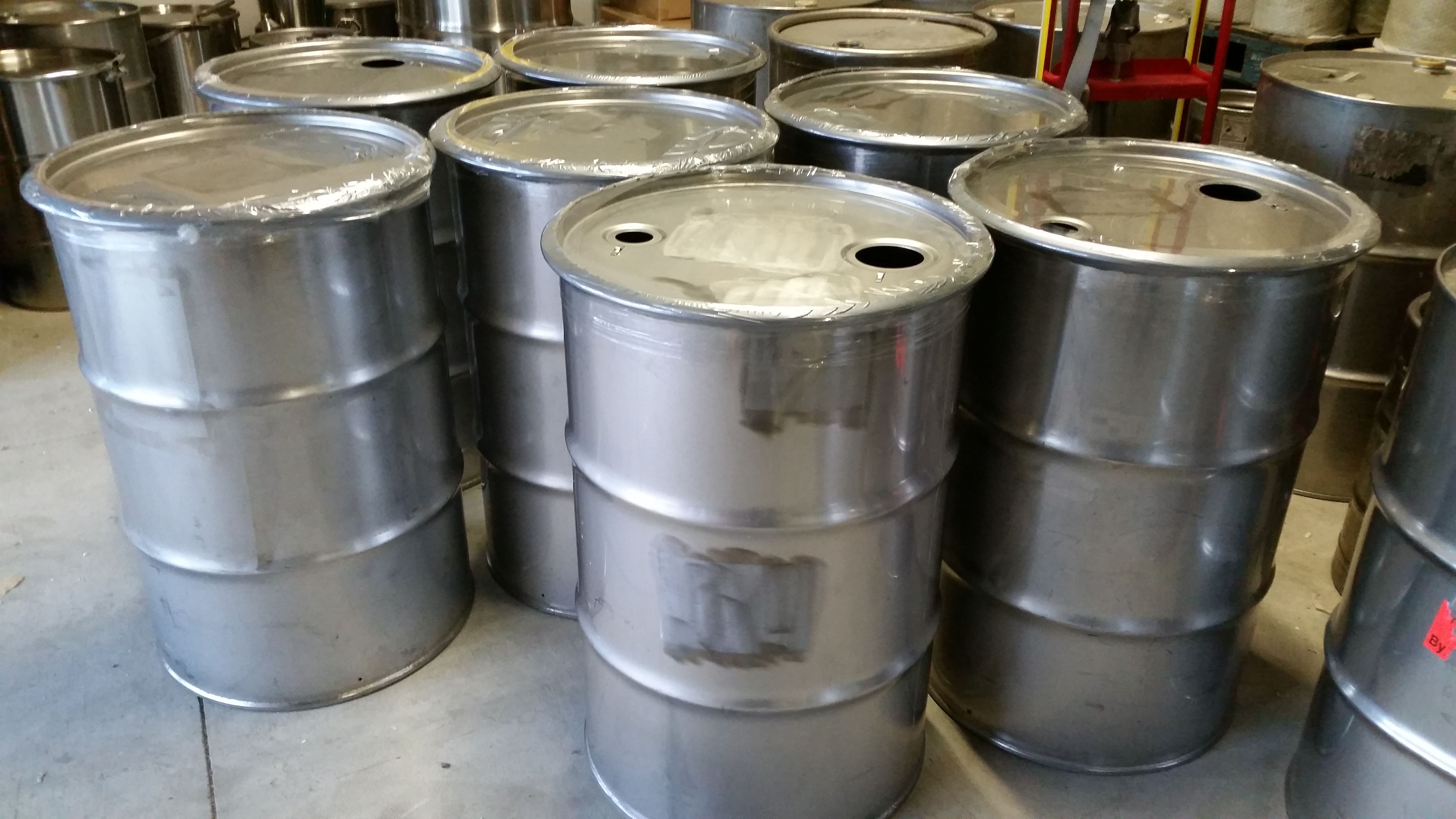 Used Stainless Steel Open Top Barrels For Sale From Www Usedstainlesssteelbarrels Com Stainless Steel Accessories Steel Barrel Steel Accessories