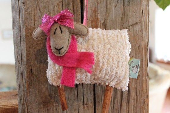 EweLa Sheep Spring Easter  Ornament by farmyardart
