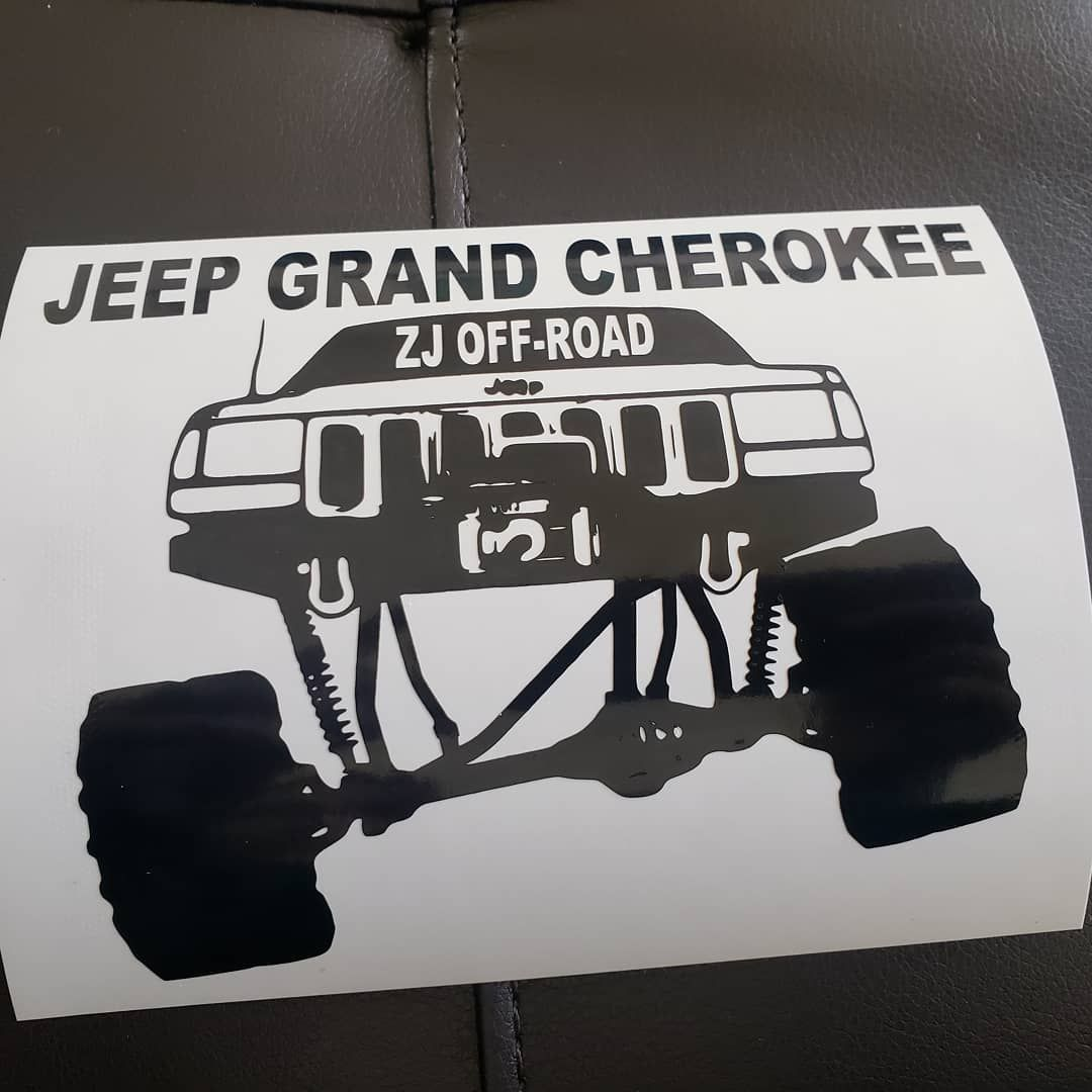 Decal Made For The Jeep Grand Cherokee Zj Offroad Group On
