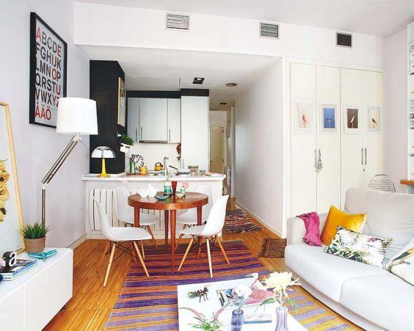 Pequeña cocina comedor living. | Casa○ | Pinterest | Pequeña cocina ...