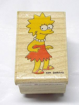 The Simpsons Lisa Simpson rubber stamp characters Matt Groening rubber stampede