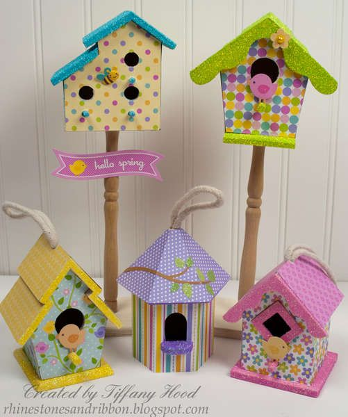 These are adorable!! They are made from Doodlebug Design Hello Spring scrapbook paper found on Scrspbook.com (my favorite scrap site!.