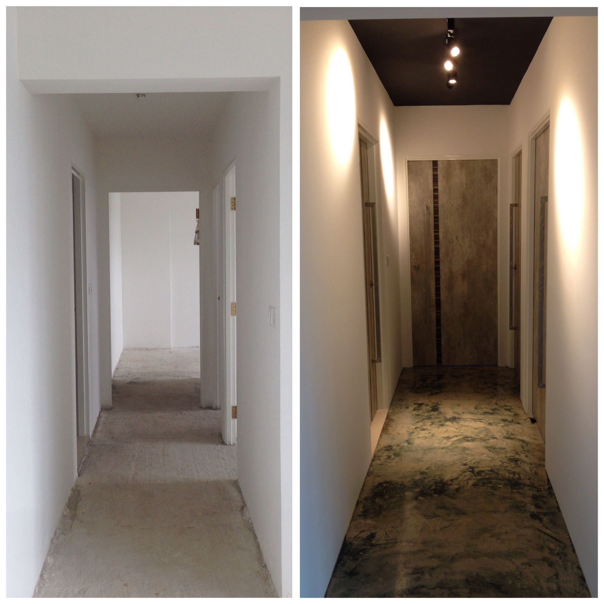 Hdb Home Design Ideas: Before And After Renovation Of Corridor By #intradesign