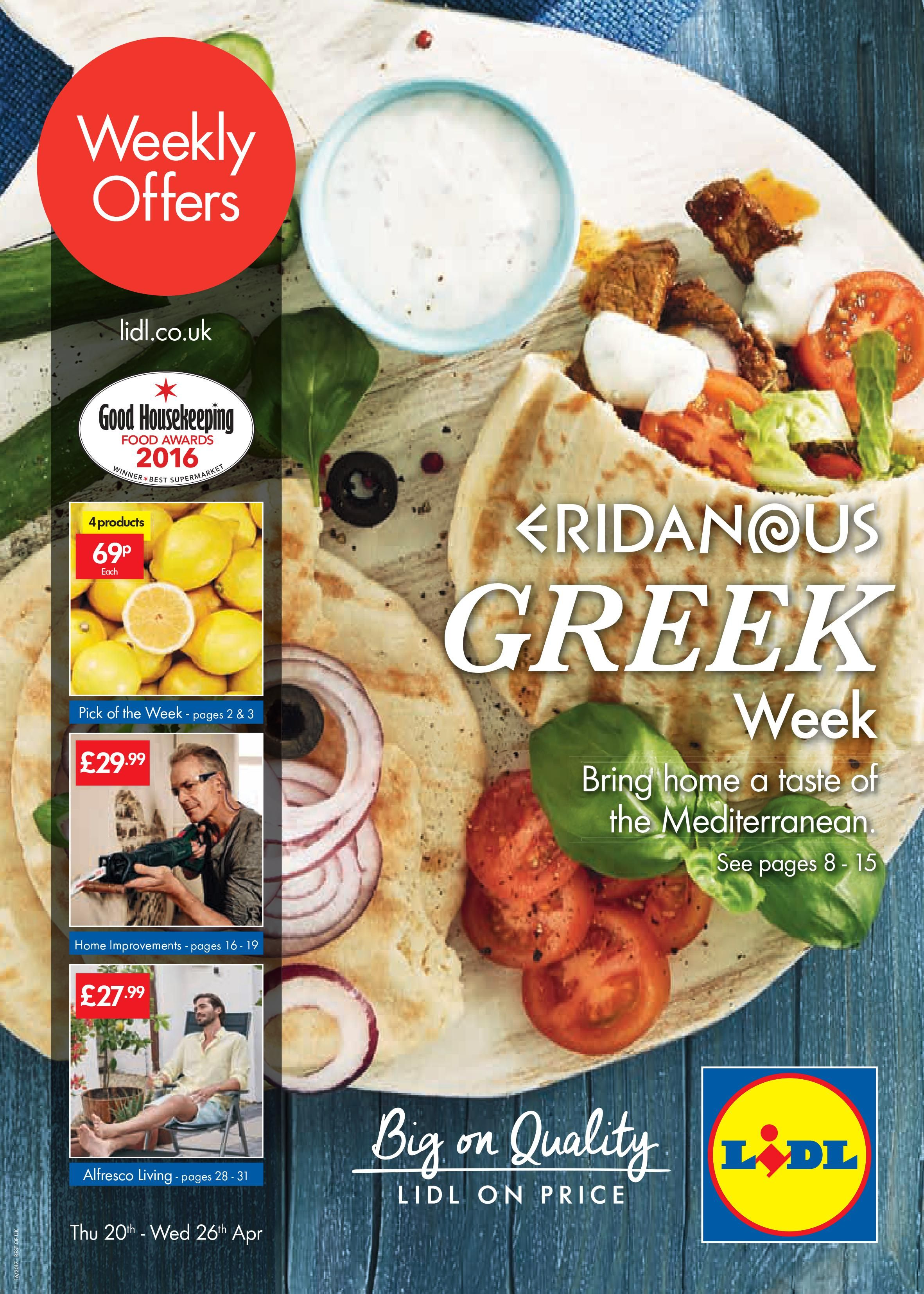 02985f9bb Lidl Offers Leaflet from 20th April-26th April 2017: Greek Week, Home  Improvements