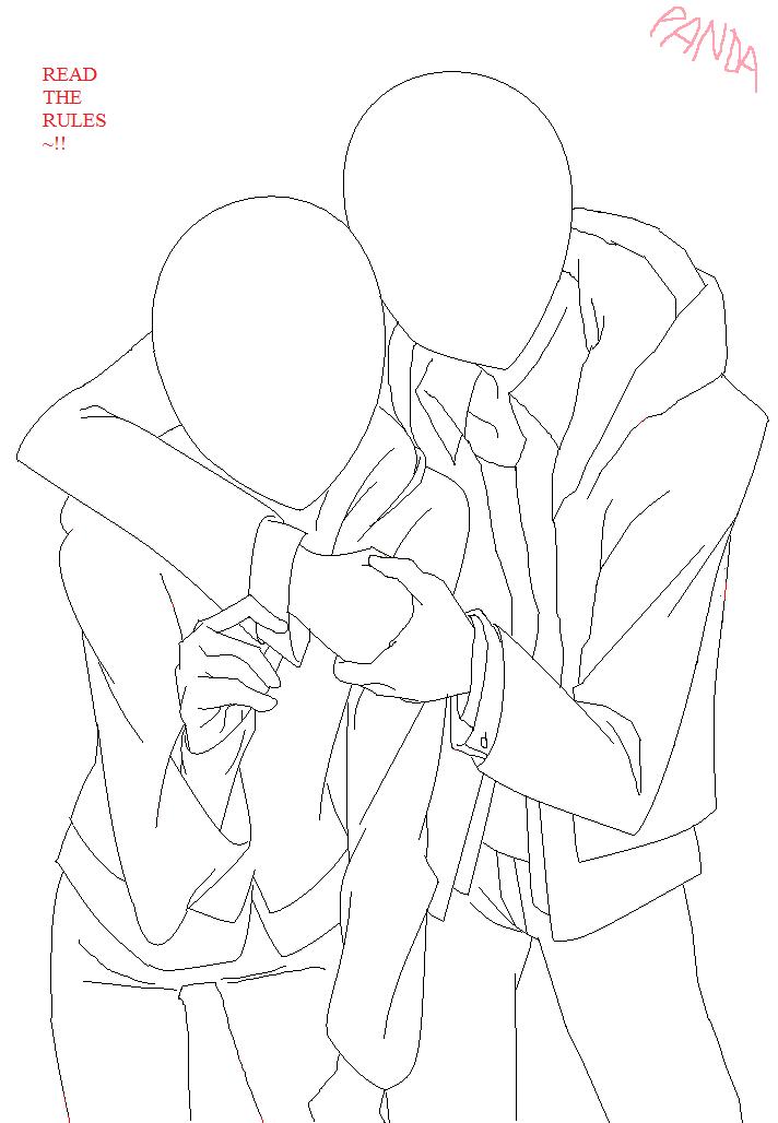Hug base by pandanzu-pixels on DeviantArt