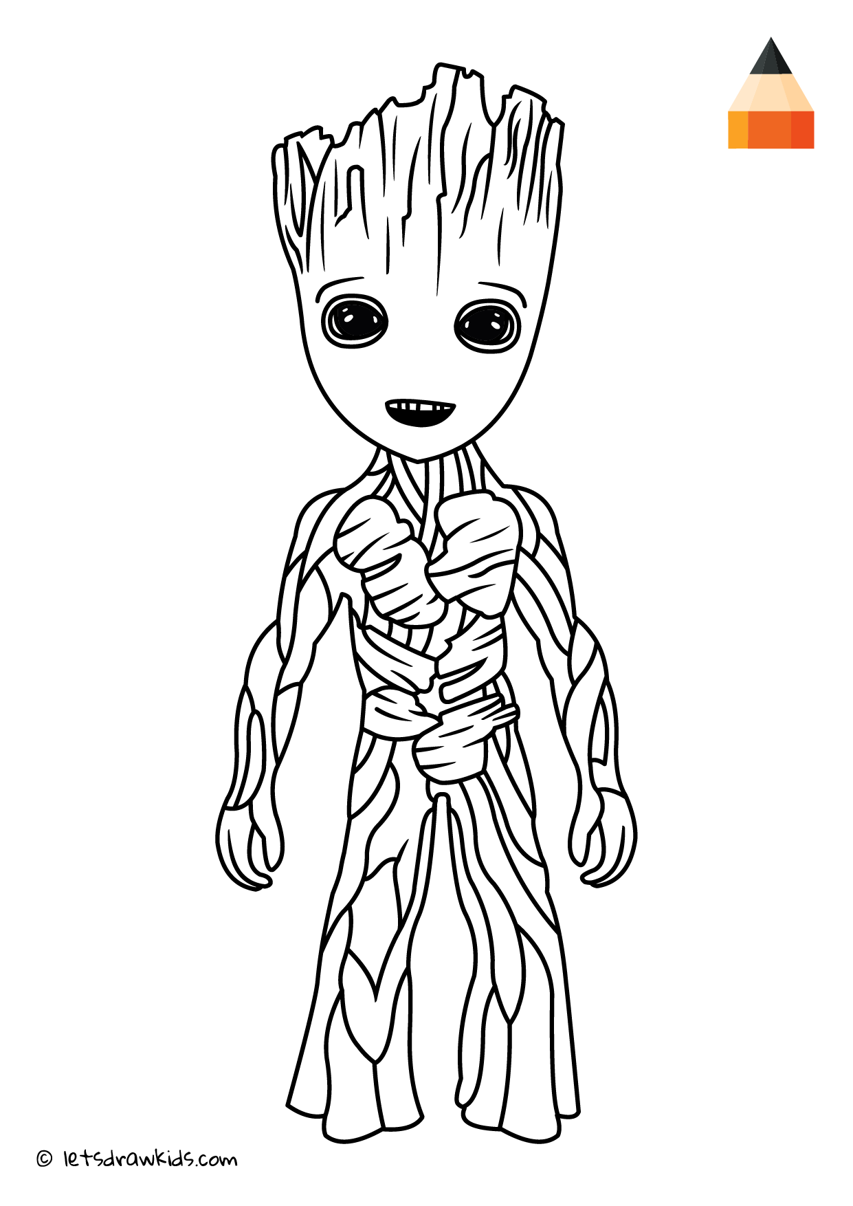 Coloring Page Teenager Groot Kolorowanki