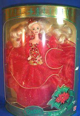 1993 Happy Holiday Barbie | Holiday barbie, Christmas barbie