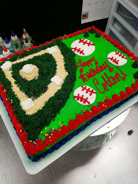 Baseball Themed 14 sheet cake My Cakes Pinterest Cake