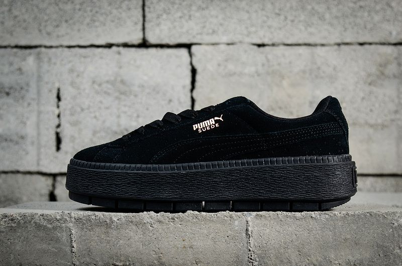 2018 Cheap Priced Puma W Suede Platform Trace 2018 Spring Summer Sneakers  365830-01 Black Noir Youth Big Boys Shoes f030c582c