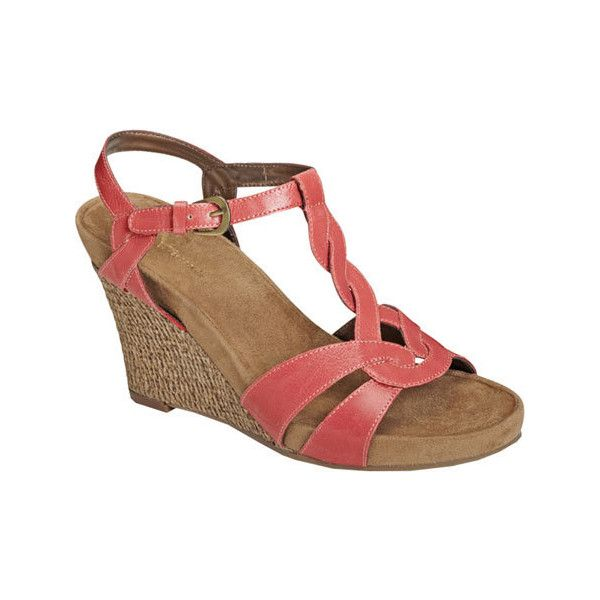 Womens Sandals Aerosoles Stone Plush Coral