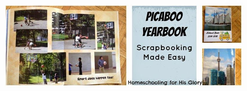 Homeschooling for His Glory: Scrapbooking Made Easy - A Picaboo Yearbooks Review