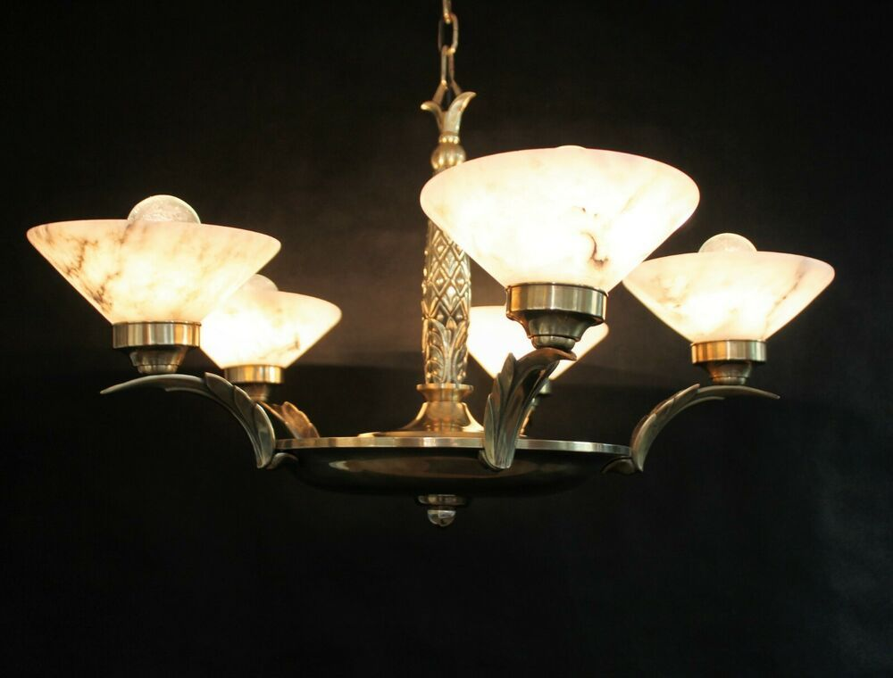 Seltene Art Deco Hangelampe Ceiling Lamp Deckenlampe Bronze Alabaster In 2020 Hange Lampe Deckenlampe Bauhaus Lampen