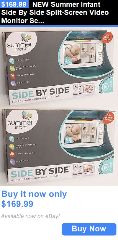 baby and kid stuff new summer infant side by side split screen video monitor set buy it now. Black Bedroom Furniture Sets. Home Design Ideas