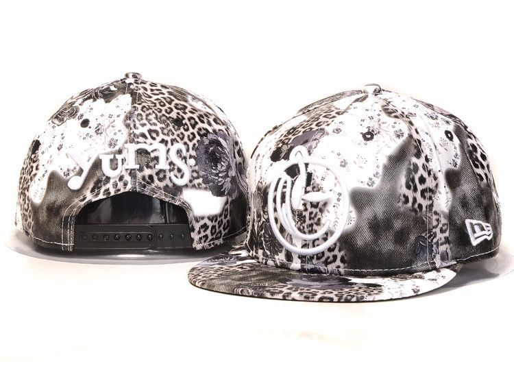 Yums Snapback Hats Leopard Full Grain Leather 110! Only $8.90USD