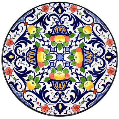 Decorative Hand Painted Plate - CER-NIZA2-31  sc 1 st  Pinterest & Decorative Hand Painted Plate - CER-NIZA2-31 | mosaic table project ...