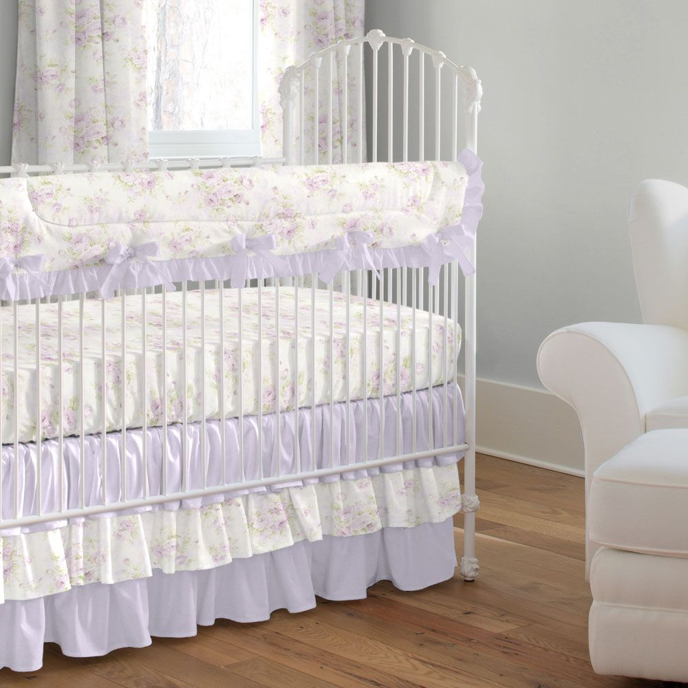 Crib Rail Guard In Lavender Shabby Fl By Carousel Designs A Perfect Solution To Help Protect Your Baby S While Maintaining Stylish Decor For